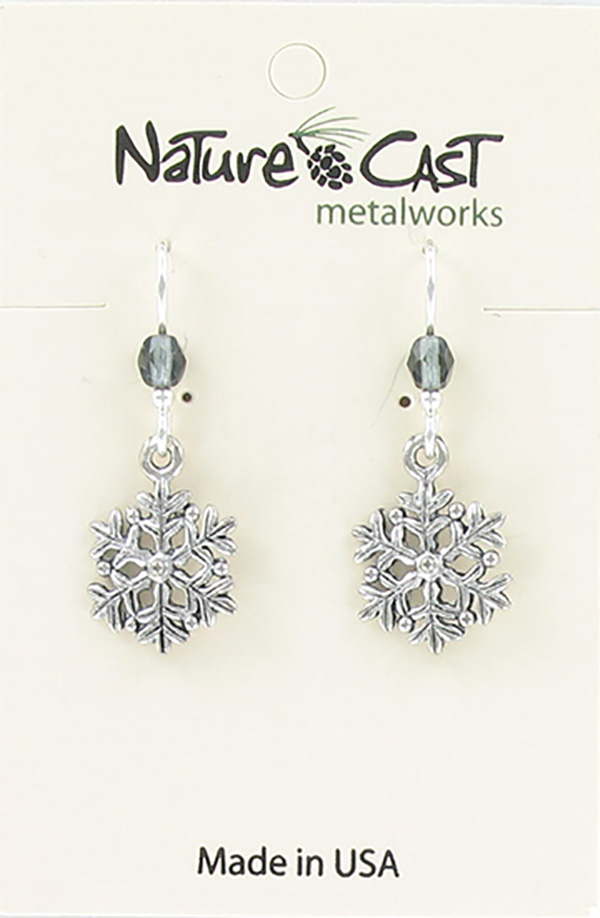 Earring dangle petite snowflake THUMBNAIL