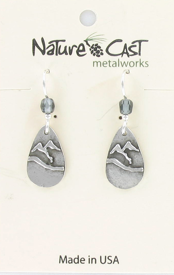 Earring dangle teardrop mountain