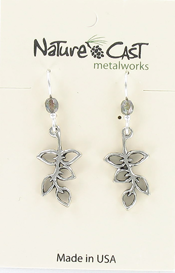 Earring dangle leaves on branch THUMBNAIL