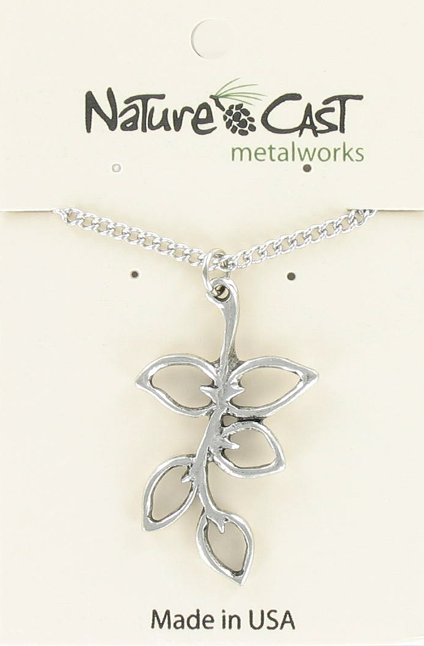 "Pendant leaves on branch w/ 18"" chain MAIN"