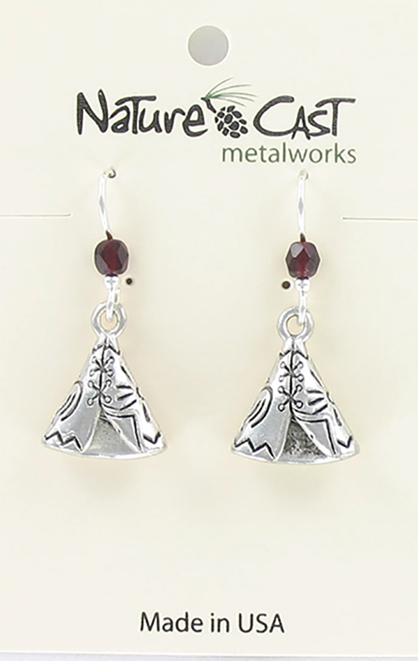 Earring dangle teepee THUMBNAIL