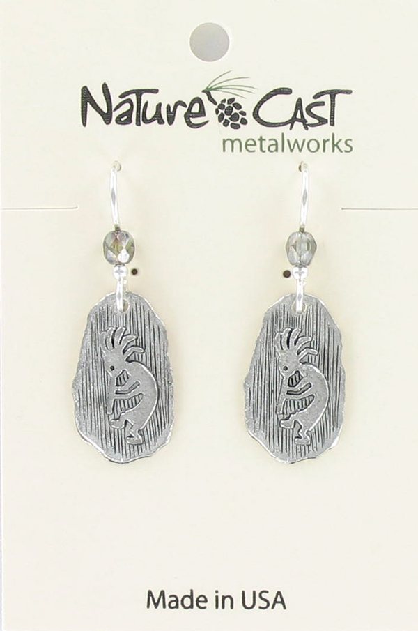 Earring dangle kokopelli petroglyph THUMBNAIL