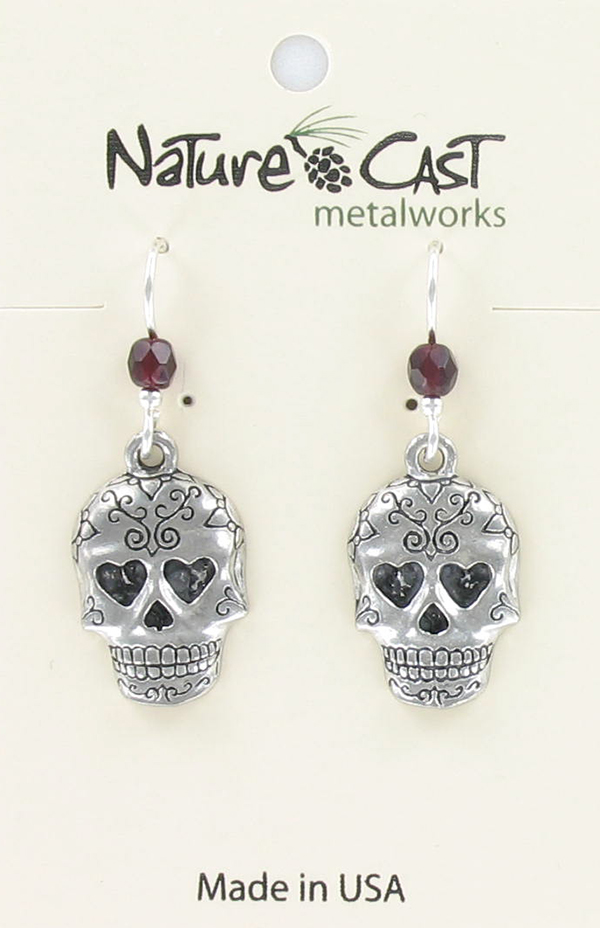 Earring dangle sugar skull THUMBNAIL