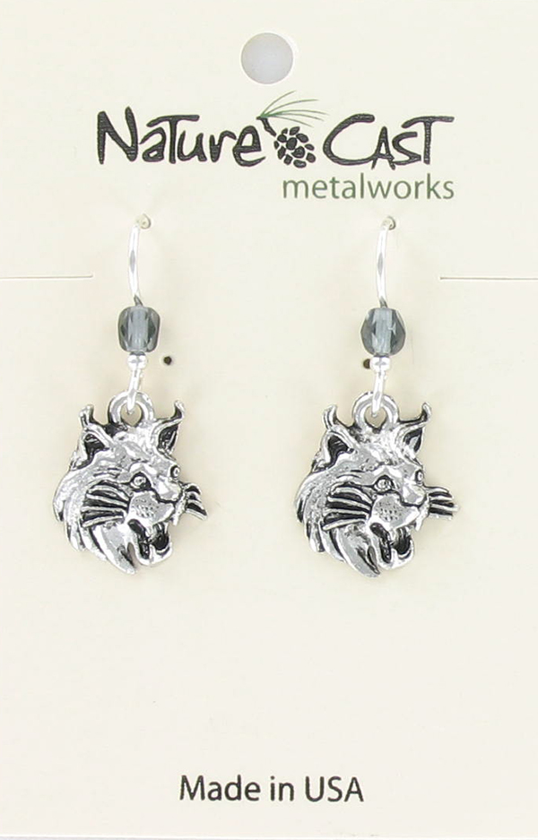 Earring dangle bobcat
