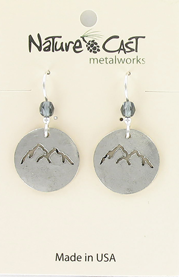 Earring dangle cutout mountain peaks