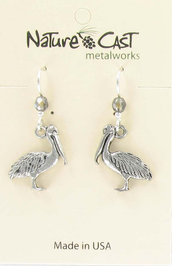 Earring dangle pelican THUMBNAIL