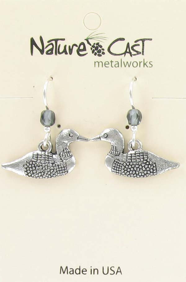 Earring dangle loon THUMBNAIL