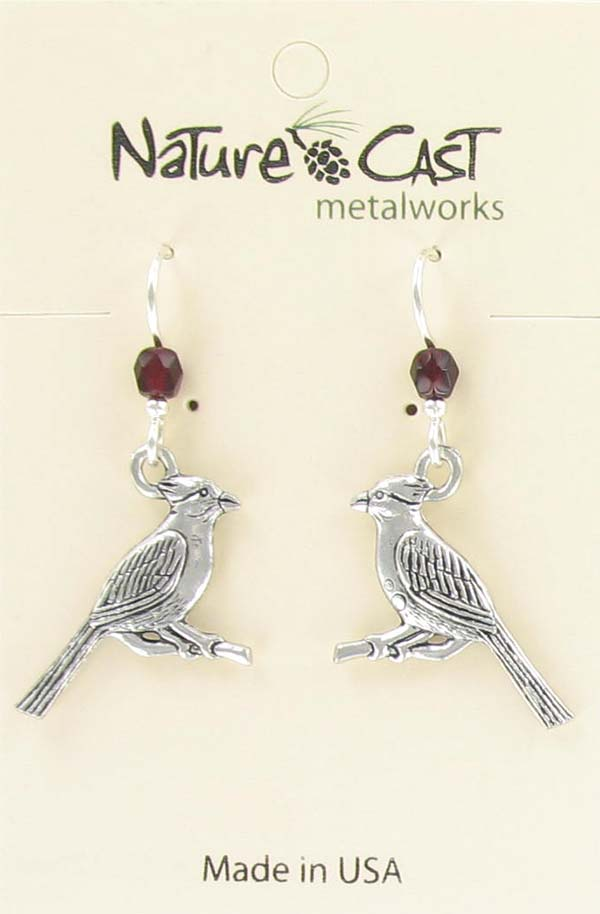 Earring dangle cardinal THUMBNAIL