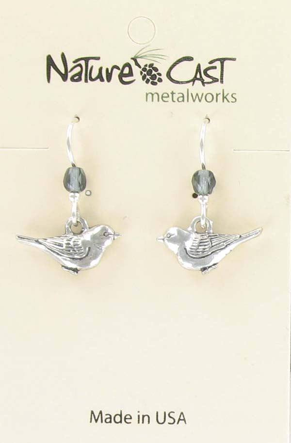 Earring dangle little bird THUMBNAIL
