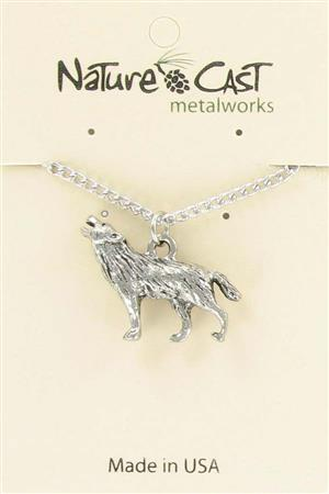 "Pendant wolf w/ 18"" chain LARGE"