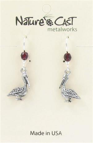 Earring dangle small pelican LARGE