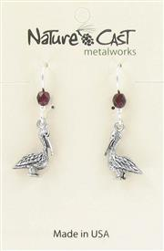 Earring dangle small pelican THUMBNAIL