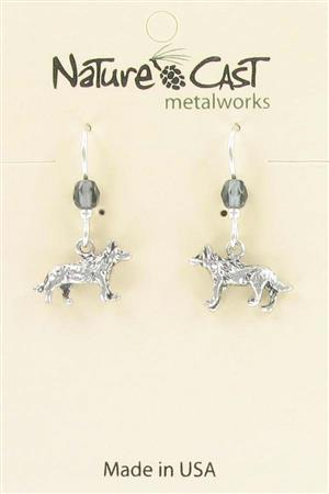 Earring dangle wolf LARGE