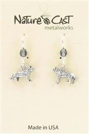 Earring dangle wolf THUMBNAIL