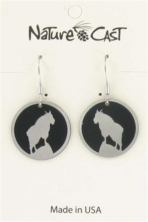 Earring dangle mountain goat LARGE