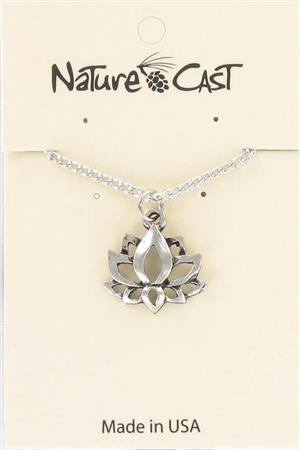 "Pendant lotus flower on 18"" chain LARGE"