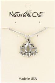 "Pendant lotus flower on 18"" chain THUMBNAIL"