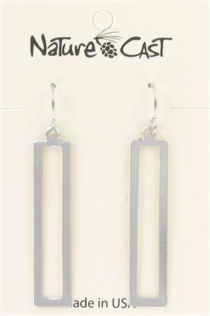 Earring dangle long open rectangle MAIN