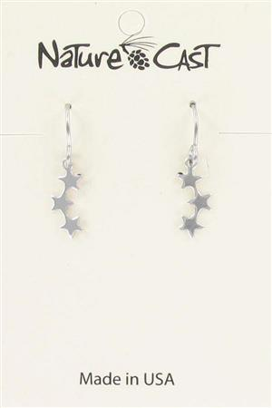 Earring dangle delicate star trio LARGE
