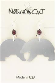 Earring dangle black bear THUMBNAIL