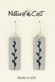 Earring dangle willow buds THUMBNAIL