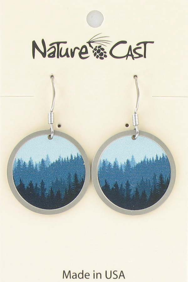 Earring dangle trees on disc THUMBNAIL