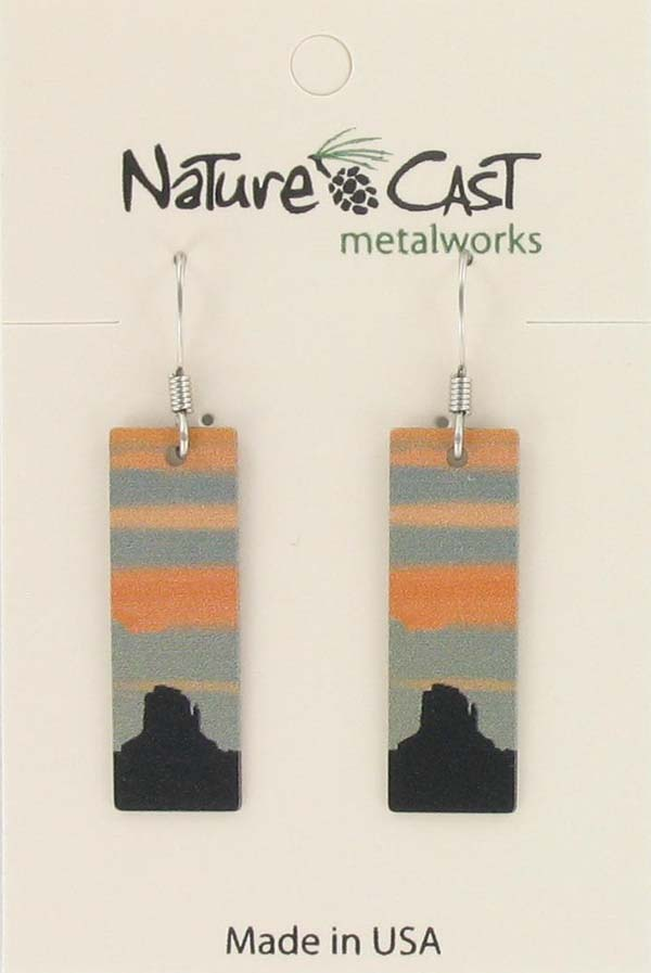 Earring dangle southwest design rectangle