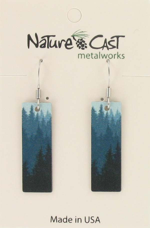 Earring dangle trees rectangle