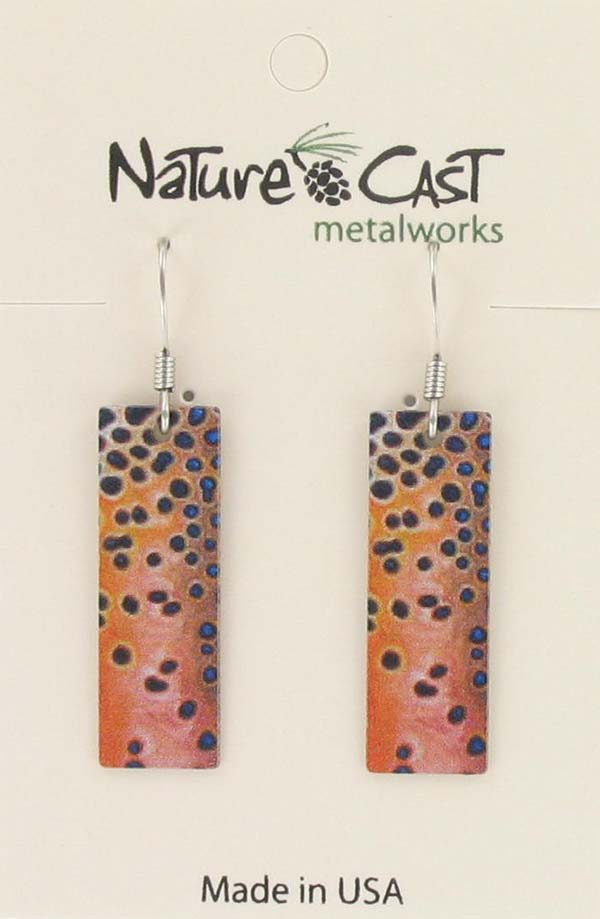 Earring dangle cutthroat trout pattern