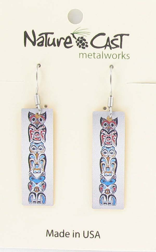Earring dangle totem pole