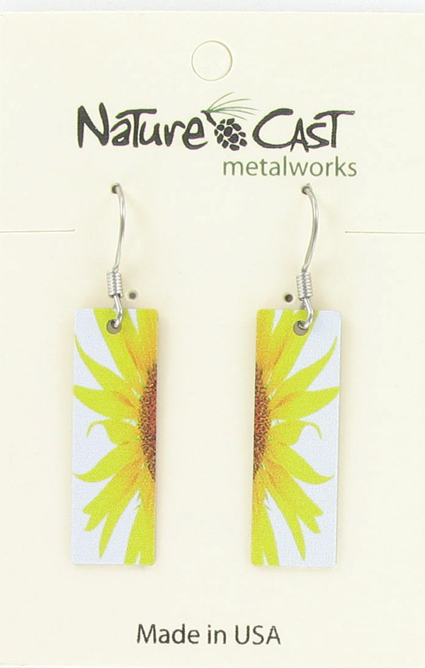 Earring dangle sunflower THUMBNAIL