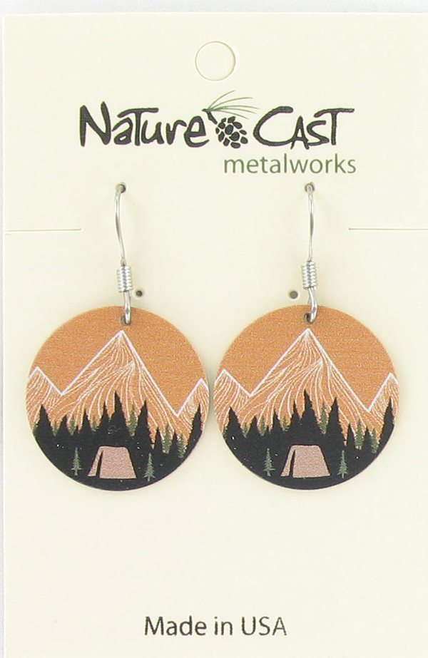 Earring dangle mountain camping