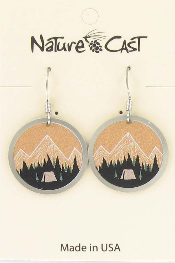 Earring dangle mountain camping LARGE