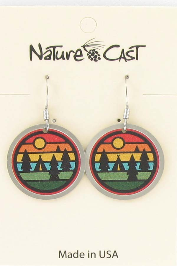 Earring dangle camping stripes THUMBNAIL
