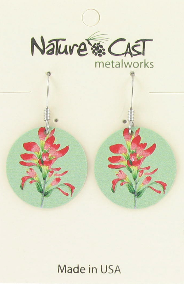 Earring dangle Indian paintbrush THUMBNAIL