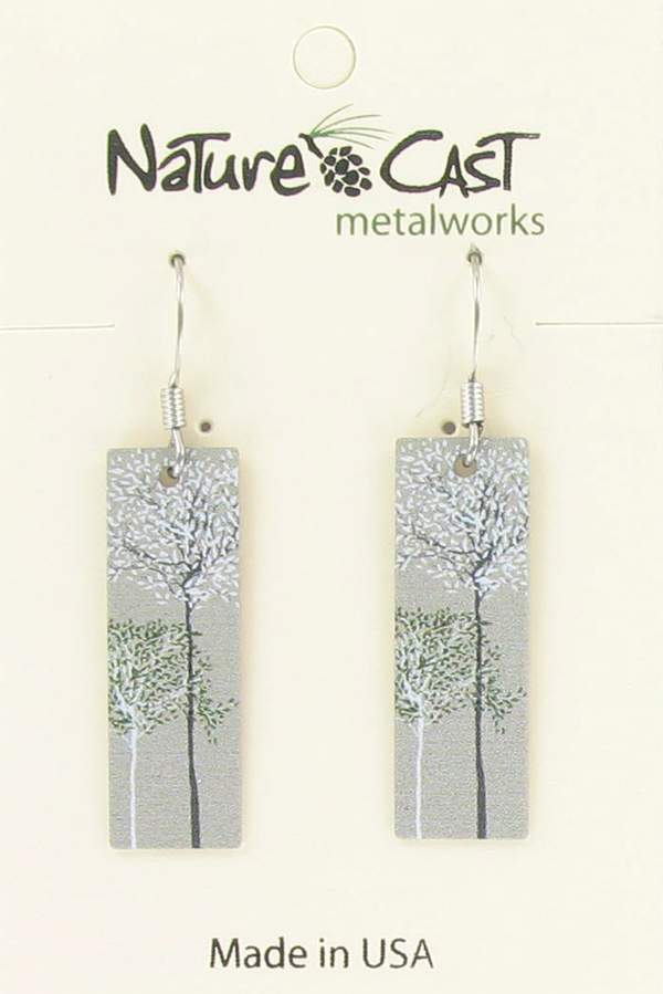 Earring dangle wispy trees