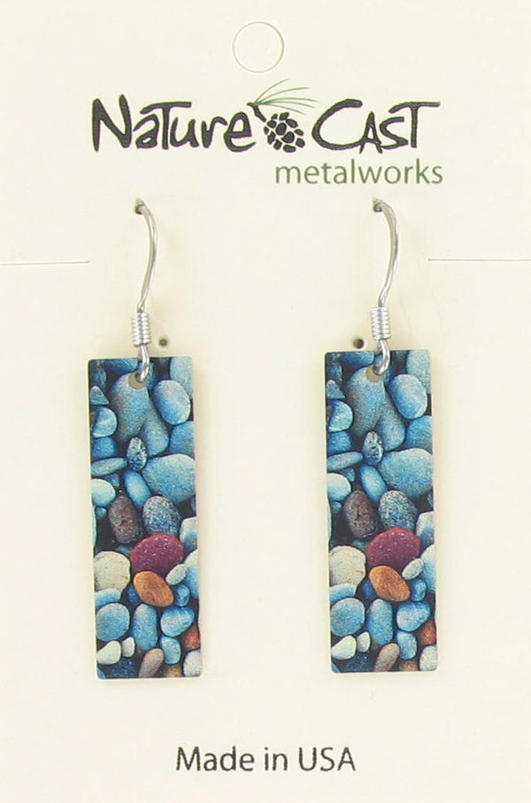 Earring dangle river rocks