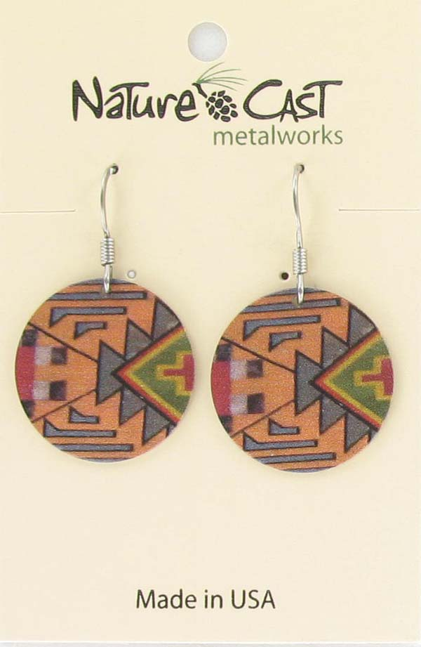 Earring dangle kilim pattern