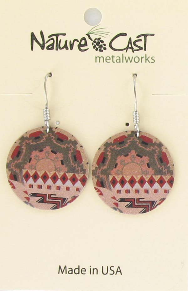 Earring dangle mural pattern LARGE