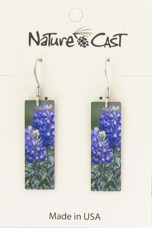 Earring dangle lupine THUMBNAIL