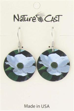 Earring dangle dogwood flower LARGE