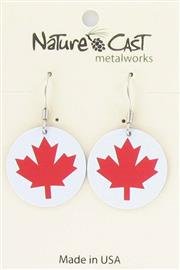 Earring dangle red maple THUMBNAIL