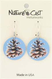 Earring dangle color pine cone round_THUMBNAIL