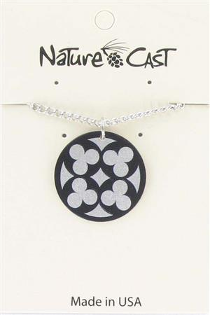 "Pendant quatrefoil on silver w/ 18"" chain_MAIN"
