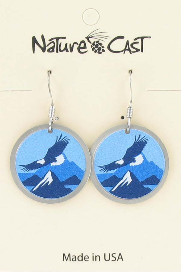 Earring dangle soaring eagle THUMBNAIL