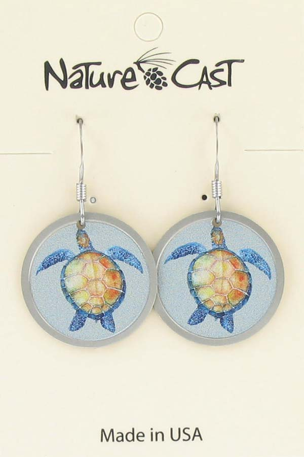Earring dangle sea turtle LARGE