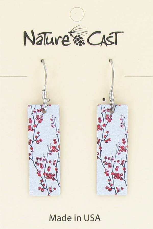 Earring dangle red berries THUMBNAIL