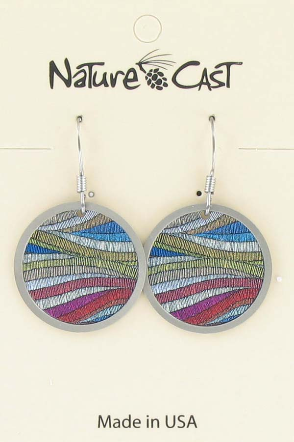Earring dangle colorful layers THUMBNAIL