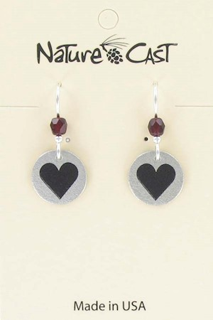 Earring dangle small heart LARGE