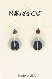 Earring dangle bison hoof print THUMBNAIL